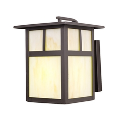 Design Classics 10-Inch Craftsman Outdoor Wall Light 493ES-1-BZ/HG