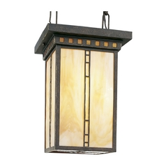 Progress Pendant Light with Art Glass in Weathered Bronze Finish