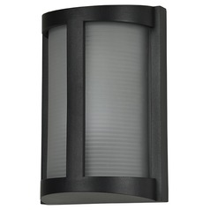 Access Lighting Pier Black LED Outdoor Wall Light