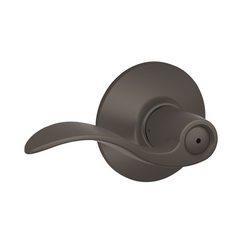 Schlage Privacy Door Lever in Oil Rubbed Bronze Finish SH F40N-ACC-613-REV