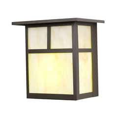 Design Classics Lighting 8-Inch Craftsman Flush Outdoor Wall Light 495ES-1-BZ/HG