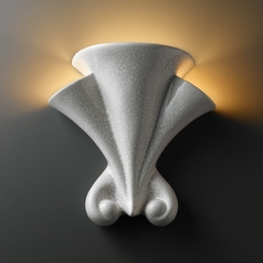 Sconce Wall Light in White Crackle Finish