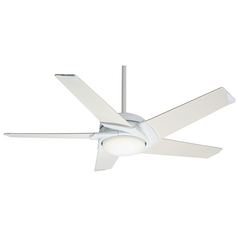 Casablanca Fan Stealth Dc Snow White Ceiling Fan with Light