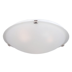 Maxim Lighting Malaga Satin Nickel Flushmount Light