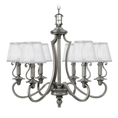 Hinkley Lighting Plymouth Polished Antique Nickel Chandelier
