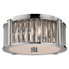 Hartland 3 Light Flushmount Light - Polished Nickel