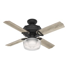 Hunter 44-Inch Brunswick Natural Iron Ceiling Fan with Light with Handheld Remote