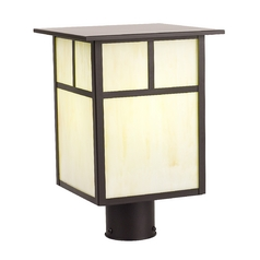 Design Classics Lighting 13-Inch Craftsman Outdoor Post Light 497ES-1-BZ/HG