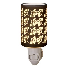 Ginkgo Leaf Silhouette Porcelain Lithophane Night Light
