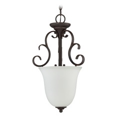 Craftmade Lighting Barrett Place Mocha Bronze Pendant Light with Urn Shade