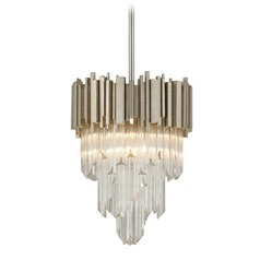 Corbett Lighting Mystique Modern Silver Leaf Pendant Light