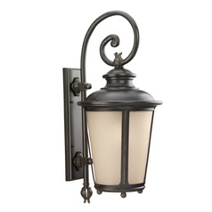 Sea Gull Lighting Cape May Burled Iron LED Outdoor Wall Light