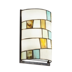 Kichler Sconce with Tiffany Glass in Shadow Bronze Finish