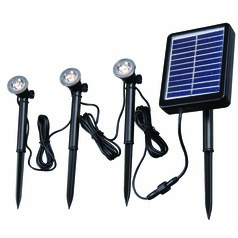 Solar Spotlight 3 Light String Black LED Solar Light by Kenroy Home