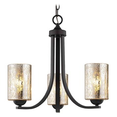 Mercury Glass Mini-Chandelier Bronze