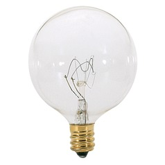 Incandescent G16.5 Light Bulb Candelabra Base Dimmable