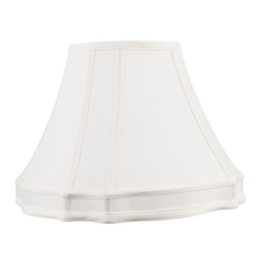 Livex Lighting S529 White Cut Corner Lamp Shade with Spider Assembly
