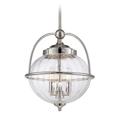 Savoy House Lighting Banbury Polished Nickel Pendant Light with Globe Shade