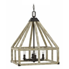 Frederick Ramond Emlilie Iron Rust Pendant Light