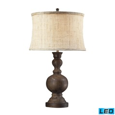 Dimond Lighting Dark Oak LED Table Lamp with Drum Shade