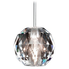 Wac Lighting Crystal Collection Chrome Mini-Pendant with Globe Shade