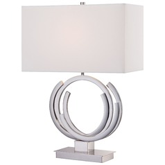 George Kovacs Portables Polished Nickel Table Lamp with Rectangle Shade