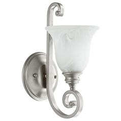 Quorum Lighting Bryant Classic Nickel Sconce