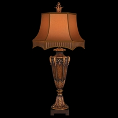 Fine Art Lamps Brighton Pavillion Aged Bronzed Sienna with Golden Accents Table Lamp with Bell Shade