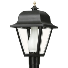 Wave Lighting Marlex Saxony Black Post Light