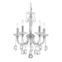 Lite Source Theophilia Chrome Crystal Chandelier