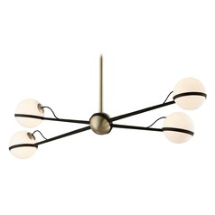 Mid-Century Modern Pendant Light Bronze / Brass Ace by Troy Lighting