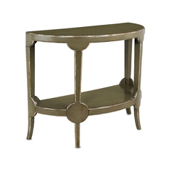 Currey and Company Lighting Sofa Table in French Gray Finish 3116