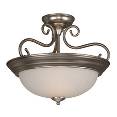 Craftmade Brushed Satin Nickel Semi-Flushmount Light