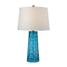 Dimond Lighting Blue Table Lamp with Empire Shade
