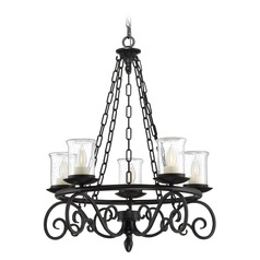Savoy House Lighting Welch Black Outdoor Chandelier