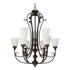 Craftmade Lighting Barrett Place Mocha Bronze Chandelier