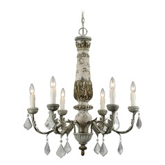 Dimond Aged Cream and Iron Chandelier