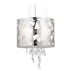 Elan Lighting Angelique Chrome Pendant Light