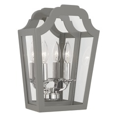 Robert Abbey Williamsburg Tayloe Polished Nickel Sconce