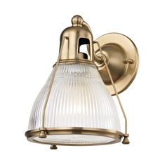 Prismatic Glass Sconce Brass Hudson Valley Lighting