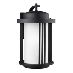 Sea Gull Lighting Crowell Black LED Outdoor Wall Light