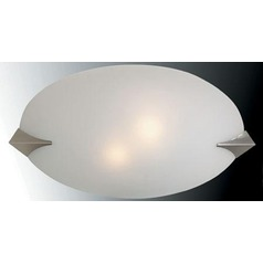 Lite Source Franco-Goccia Polished Steel Flushmount Light