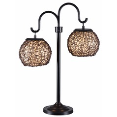Kenroy Home Lighting Outdoor Patio Lamp with Two Lights 32245BRZ