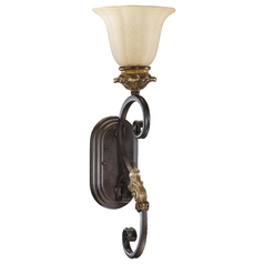 Quorum Lighting Capella Toasted Sienna with Golden Fawn Sconce