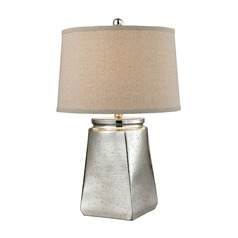 Dimond Lighting Silver Mercury Table Lamp with Empire Shade