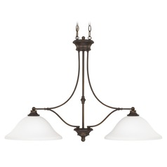 Capital Lighting Belmont Burnished Bronze Island Light with Bowl / Dome Shade