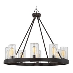 Savoy House Lighting Inman English Bronze Outdoor Chandelier