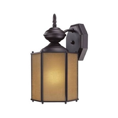 Bronze Outdoor Wall Light with Compact Fluorescent Light Bulb