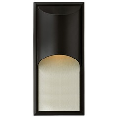 Modern LED Outdoor Wall Light in Satin Black Finish
