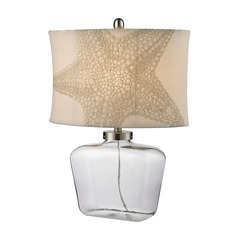 Dimond Lighting Clear Table Lamp with Oval Shade
